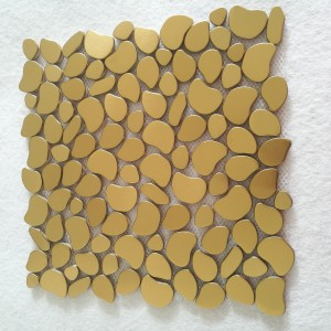 Factory Prices 8*300*300mm Size Golden Stainless Steel Ceramic Mosaic Plate