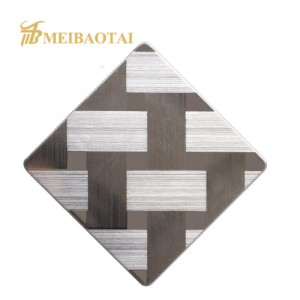 4*8ft sheet sus304 316L stainless steel sheet satin SB mirror color stainless steel plate