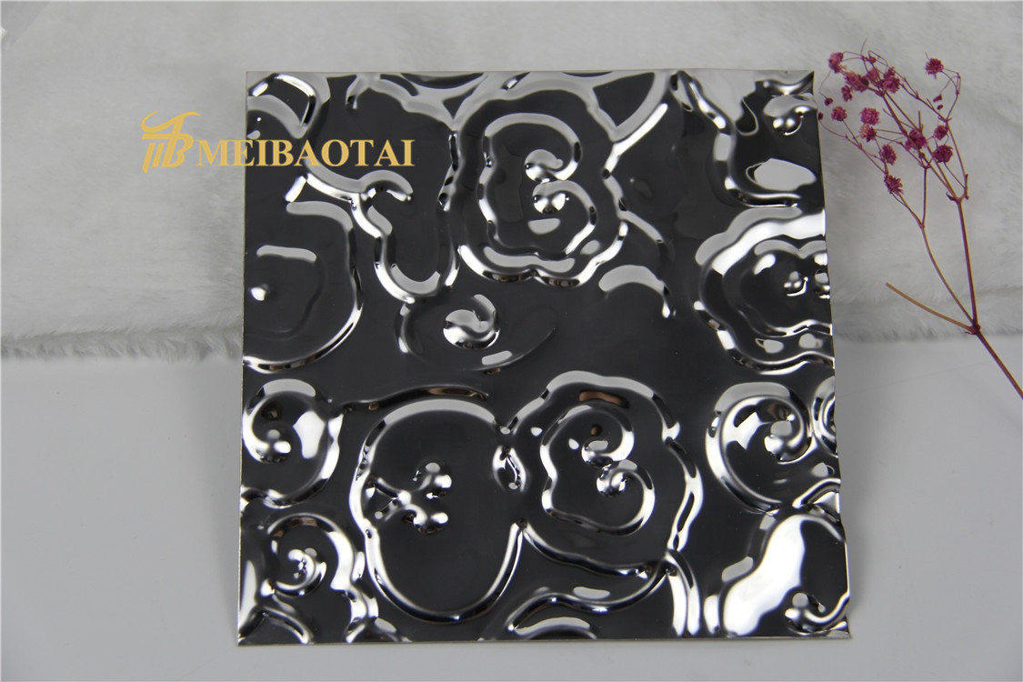 Grade 304 Black Color Finish Stamped Stainless Steel Sheet Featured Image