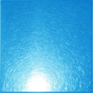 blue color stainless vibration decorative sheet