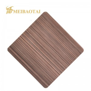 Decorative Hairline Finish Stainless Steel Sheet for Kitchen Equipment