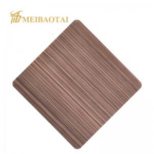 Grade 304 PVD Coating Hairline Stainless Steel Sheet
