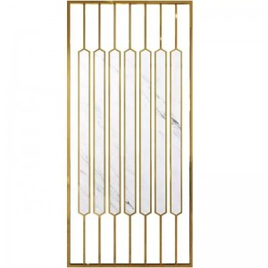 2021 New Design PVD Golden Brush Design Stainless Steel Material Decoration Partition Room Divider